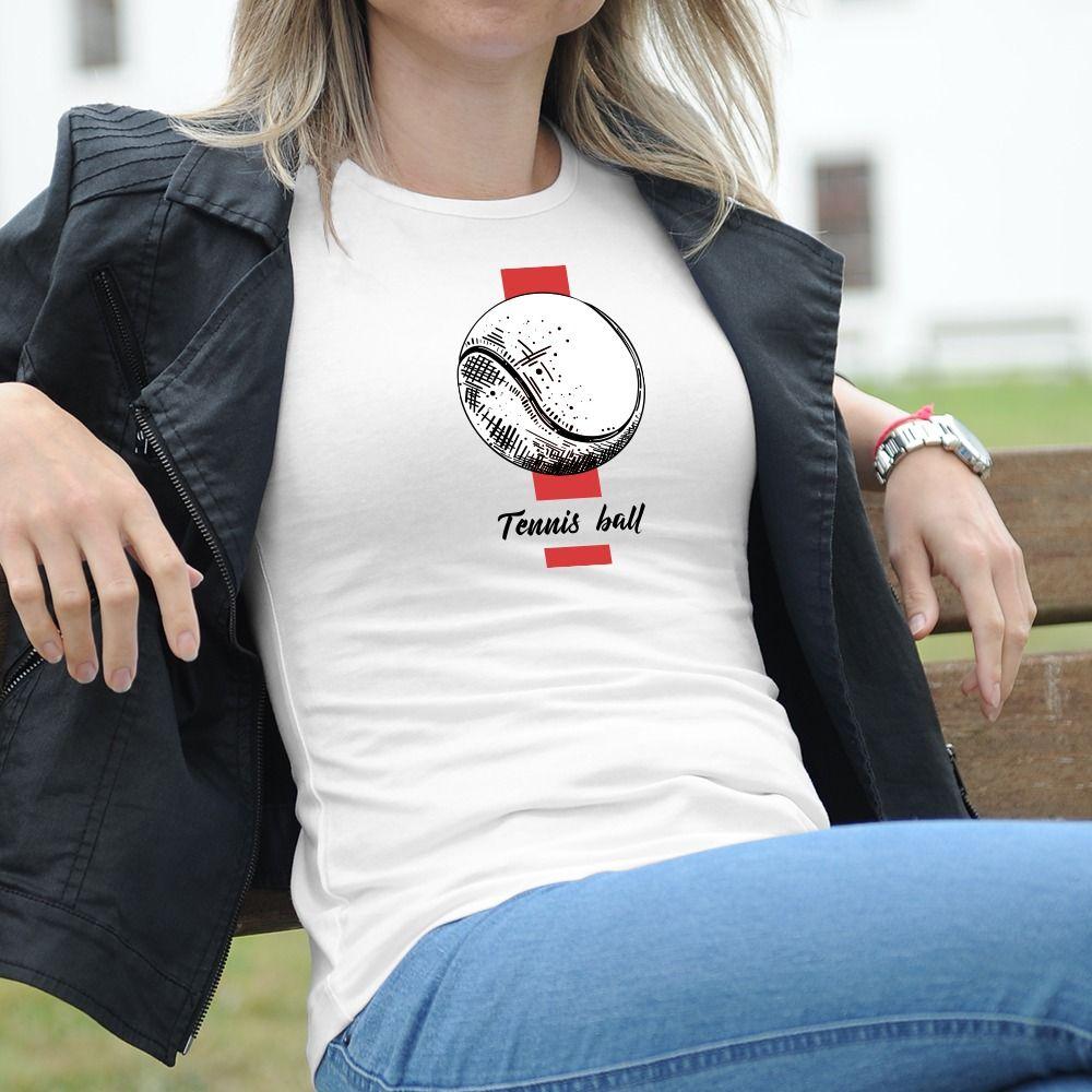 Dámske tričko s potlačou Bejzbal