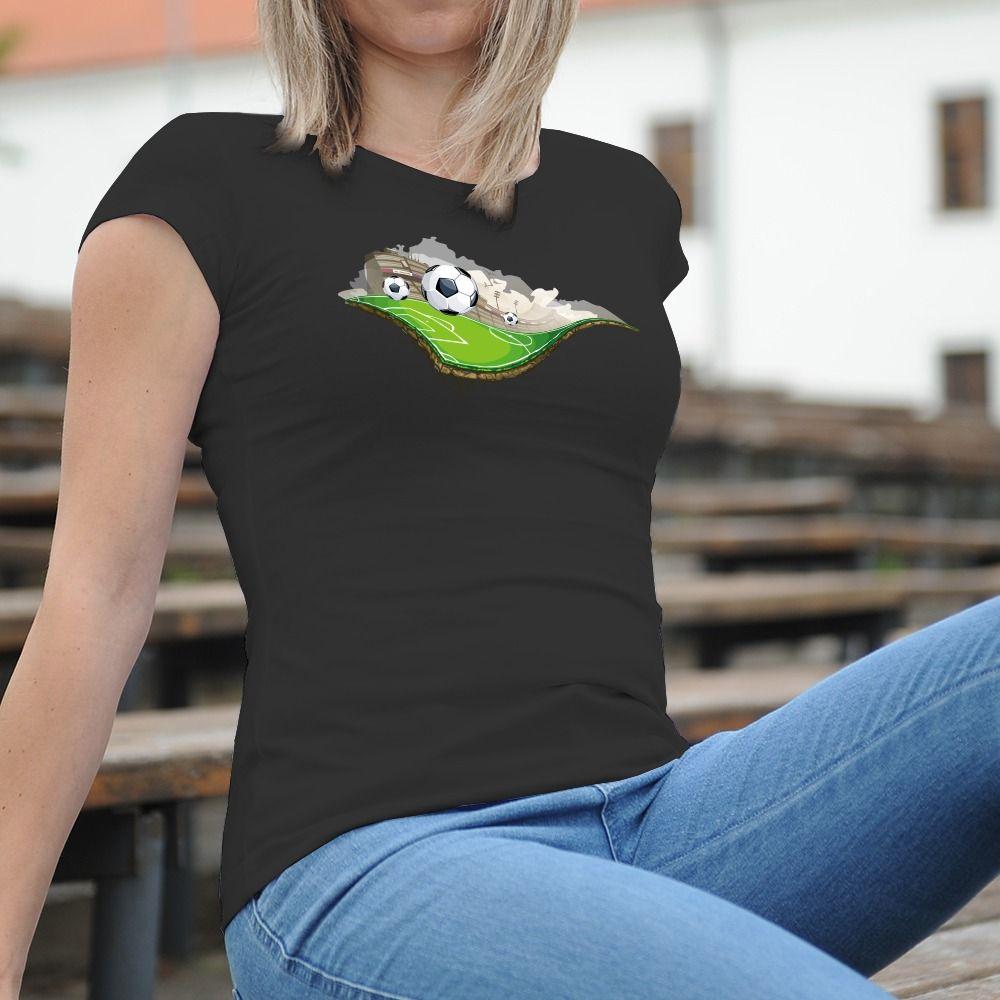 Dámske tričko s potlačou Futball