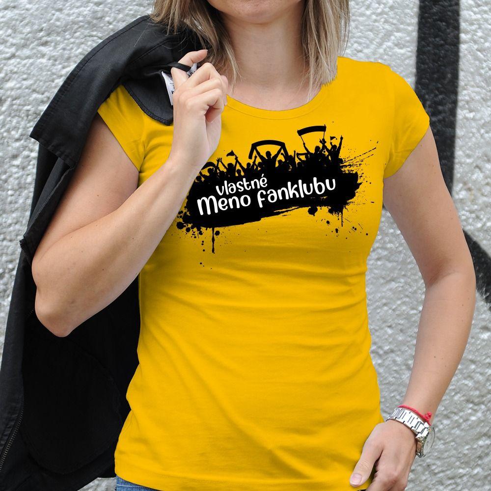 Dámske tričko s potlačou Fanklub