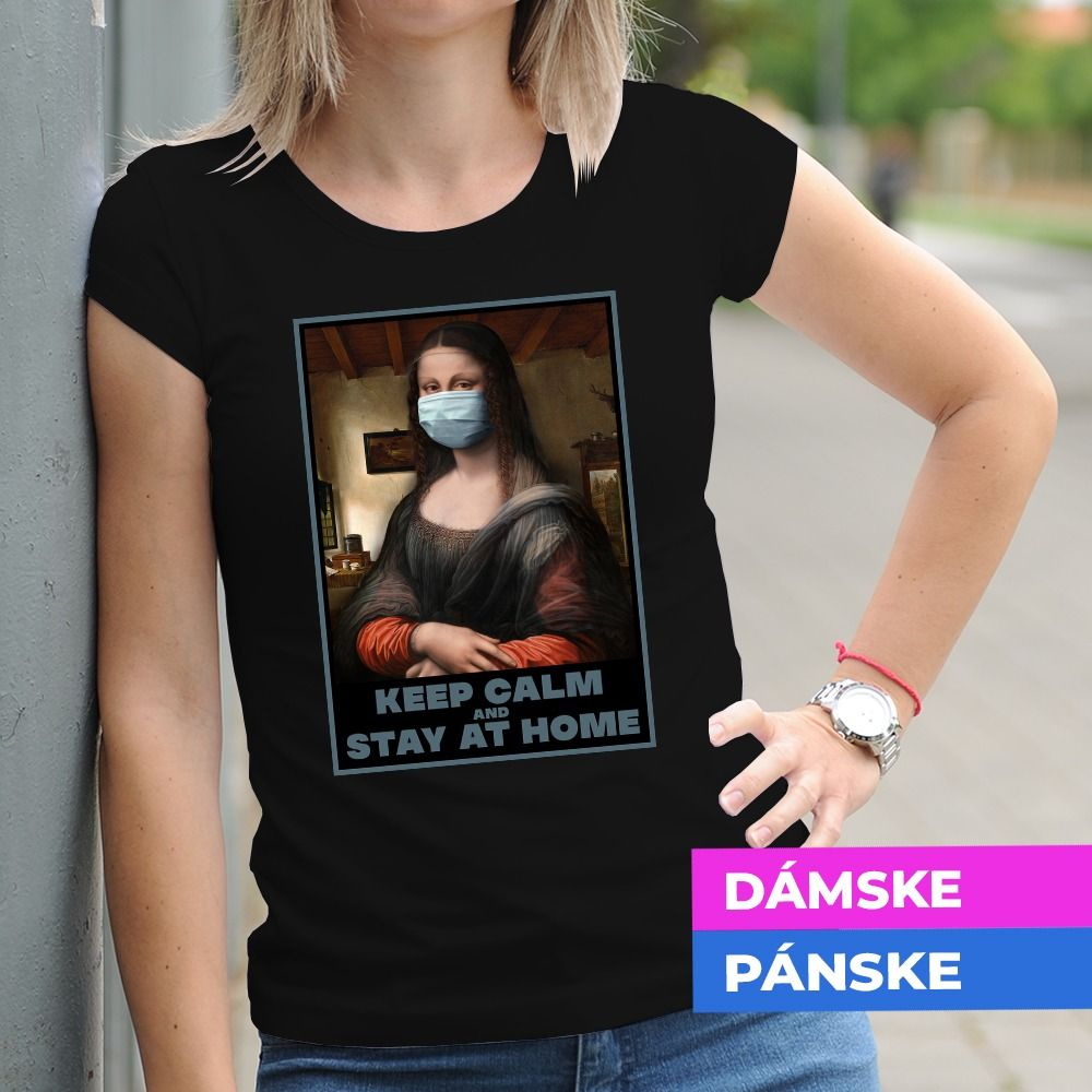 Tričko s potlačou Monalisa