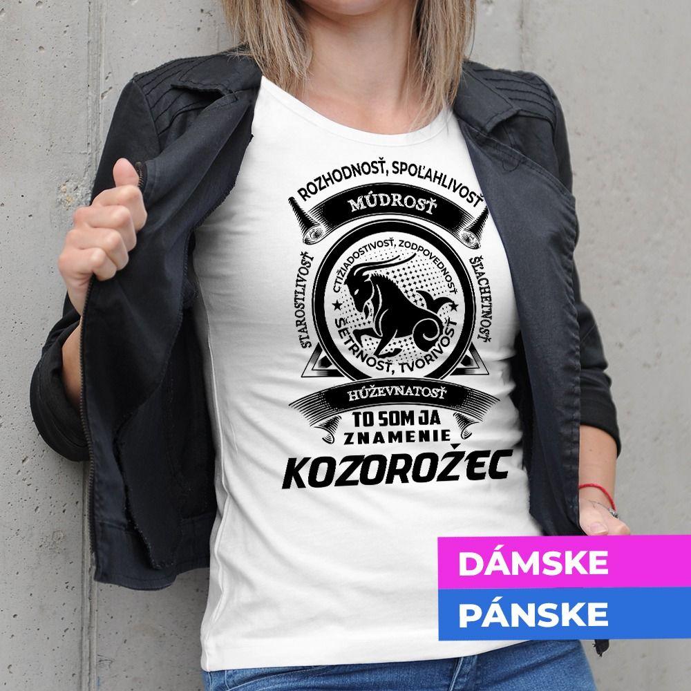 Tričko s potlačou Kozorožec
