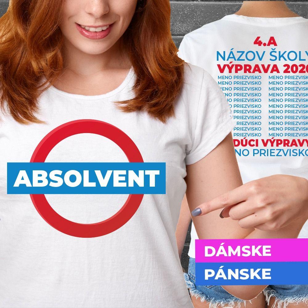 Tričko s potlačou Absolvent