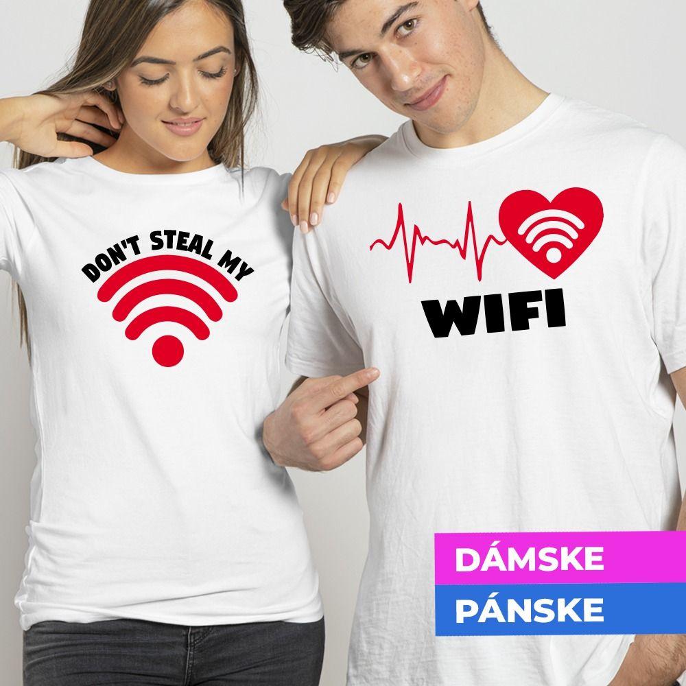 Tričko s potlačou Don´t steal my Wifi