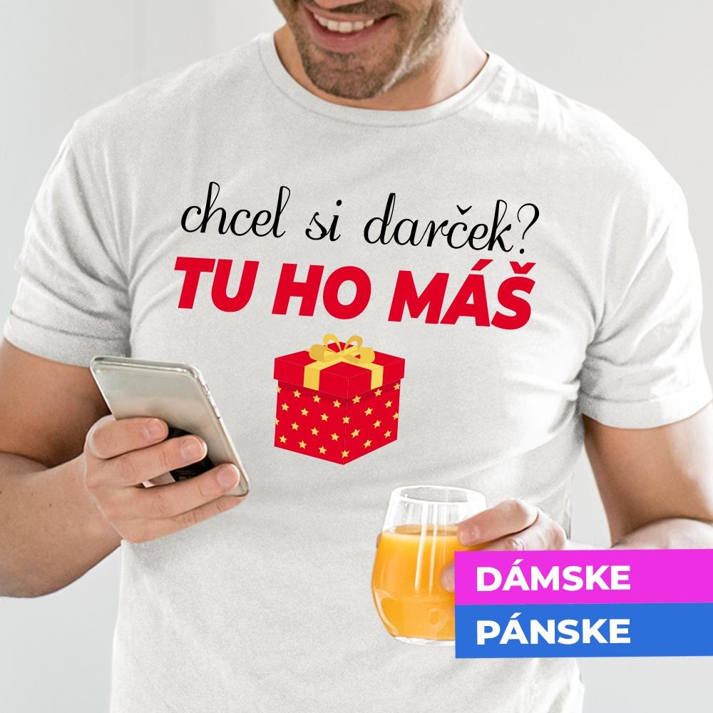 Vianočné tričko Chcel si darček