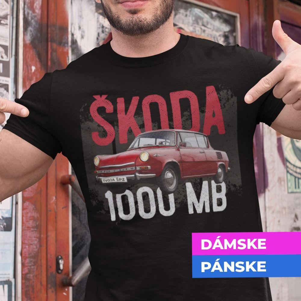 Tričko s potlačou ŠKODA 1000 MB
